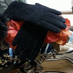 Thinsulate Black vegan leather gloves size large